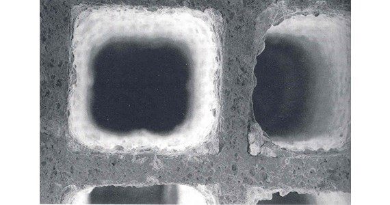 SEM washcoat on oxide honeycomb.jpg