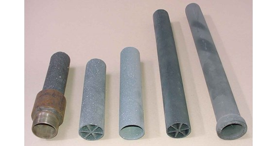 60 mm extruded ReSiC tubes 1989.JPG