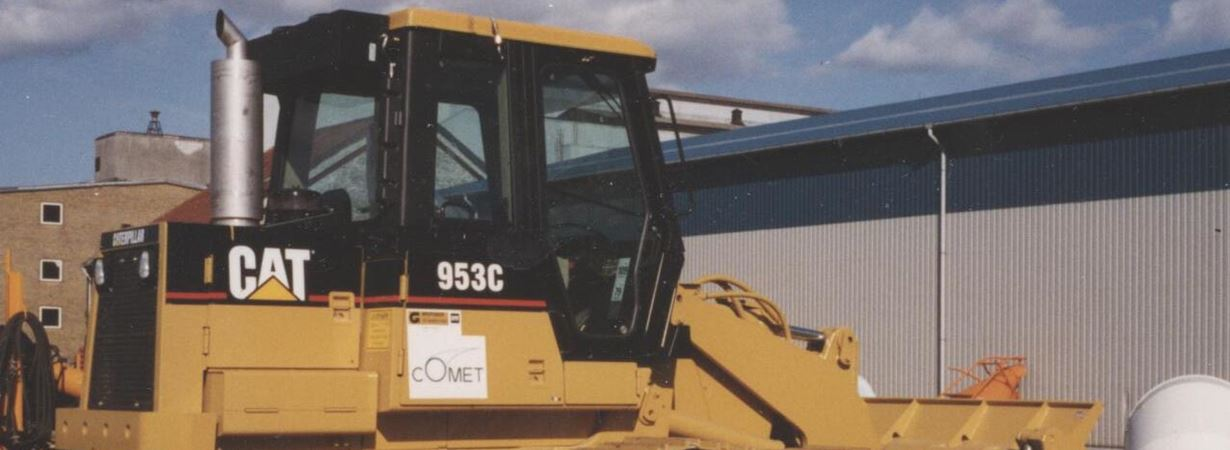 CAT for mining use with DPF mounted